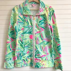 Lilly Pulitzer Leonia Zip Up sweater jacket sz M